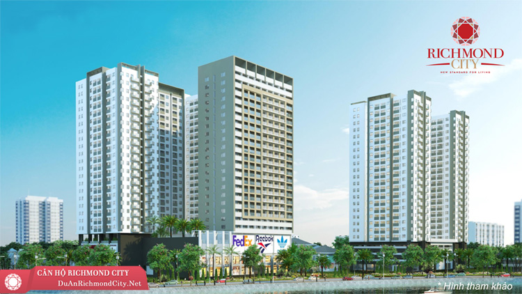 Phối cảnh dự án căn hộ richmond city nguyễn xí