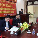 Lễ ký kết hợp đồng giữa UBND huyện Phú Bình và Công ty Cổ phần xây dựng số 3 - Vinaconex 3 về việc triển khai dự án nhà ở liền kề tại huyện Phú Bình, tỉnh Thái Nguyên