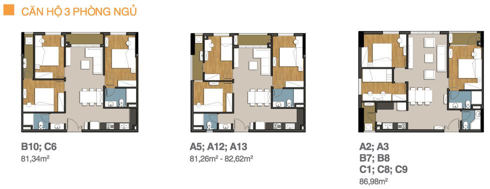 Căn hộ 3 phòng ngủ 9view apartment