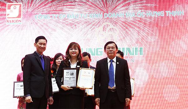 """Hưng Thịnh Corp đạt danh hiệu """"Thương hiệu bất động sản được yêu thích nhất"""""""